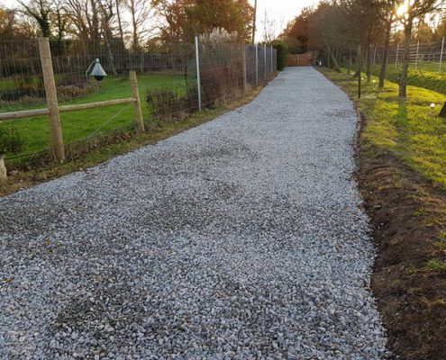 Driveway Shingle Replaced With Ragstone