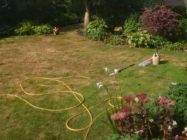Lawn Being Maintained