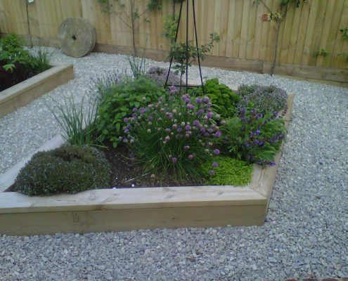 Modern Landscape With Planters