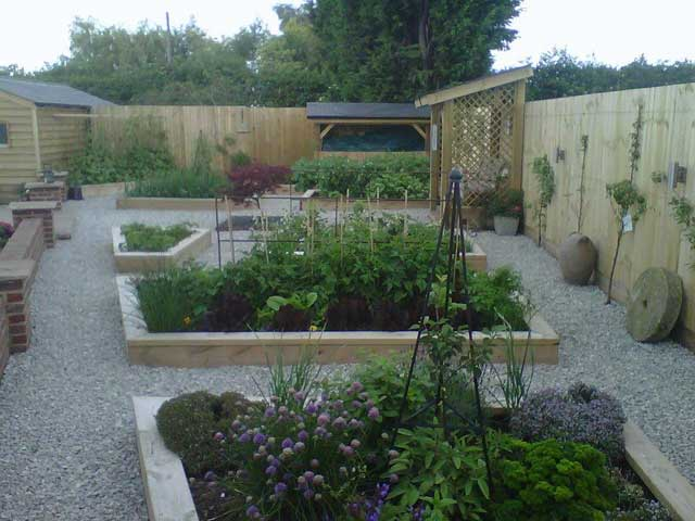 Oak Planters and Retaining Walls