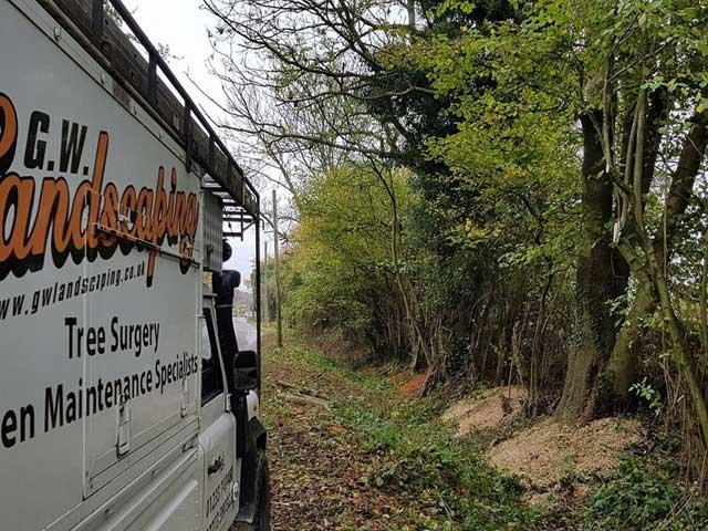 GW Landscaping Van